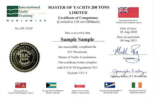 maritime institute certification